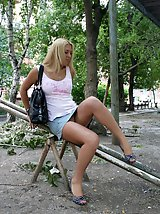 24 pictures - Playground upskirt set