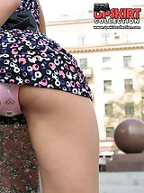 24 pictures - Impressive outdoor upskirt