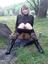 8 pictures - pantie hose up skirt