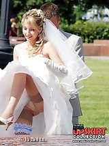 12 pictures - Very steamy bride upskirt pics