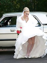 9 pictures - Shots of Bride In Stockings Cheat