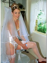 9 pictures - Photos of Lovely Bride In White With Stockings Over Pantyhose