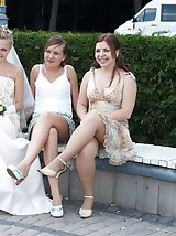 10 pictures - Naughty Brides upskirt photos